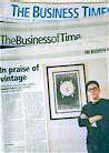 "Shawn's Article - ""In Praise of Vintage"" in The Business Times @ 26 Aug 2011"