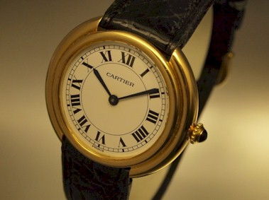 56efa82cd27f click on the pic for more pictures   . RARE VINTAGE AUTOMATIC 18K SOLID  GOLD CARTIER ...